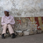 Outside former Pensione Mar Rosso - Asmara