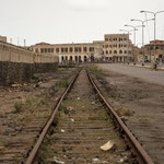 Ending part of Asmara>Massawa railway, built during 1920s - Massawa