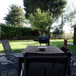 Schöner Sitzplatz auf der Terrasse