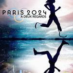 """Prototype d'affiche pour un projet documentaire """"Paris 2024 à deux regards"""""""