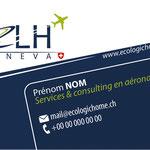Carte de visite de la société suisse ELH, spécialisée en aéronautique
