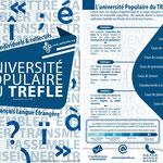 Création recto verso, imaginée pour l'Université Populaire du TREFLE (Association d'enseignement de Français Langue Étrangère, en Franche-Comté)