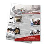 Plaquette promouvant les services professionnels du Rex Restaurant Pizzeria