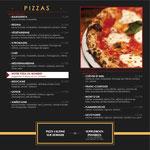 """Page des pizzas, Carte 2019-2020 du """"Rex Restaurant Pizzeria"""" à Lure"""