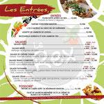 """Page des entrées, de la carte printemps-été 2018 du """"Rex Restaurant Pizzeria"""", 70 200 LURE"""