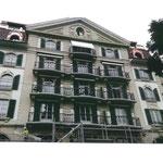 Rénovation façade et balcon, Maison Place du Nord Lausanne
