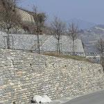 Murs en pierres avec et sans joints, Routes de Savièse