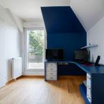 Bureau bleu fonctionnel