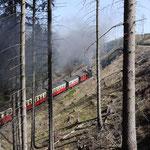 die Harzquerbahn auf ihrem Weg