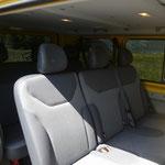 Bestuhlung 8-plätzer Taxi, 3-3-2+Chauffeur