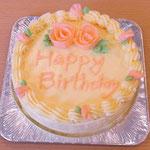 お誕生日ケーキ(バタークリームデコレーション)