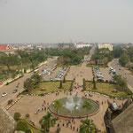 Blick vom Patou Xai auf die Straße