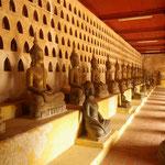 Wat Si Saket, königlicherTempel, beherbergt über 2000 Buddhafiguren
