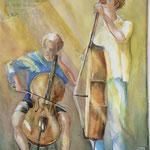 Deux jeunes musiciens