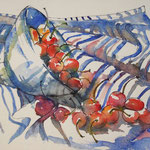 Cérises bleues / Blue cherries