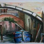 Sous un pont à Venise / Under a bridge, Venice