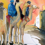 Chameaux au lever du jour  Camels at break of day