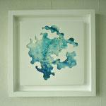 「bubble3」 ベニヤ板、画用紙、鏡、油彩、水彩、合成樹脂 2012