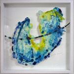 「aqua4」 523×523mm 画用紙に油彩、水彩、合成樹脂 2012