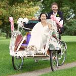 De riksja gebruiken voor je trouwreportage