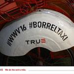 Voor de Borreltaxi, een taxiservice voor True op de beurs