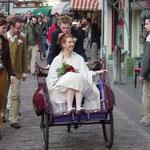 Riksja als spectaculaire aankomst op je bruiloft