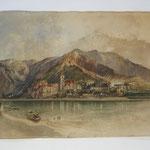 Rudolf von Alt, Dürnstein, Aquarell/Papier, 1844