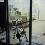 自動ドア・ガラス割れ替え工事