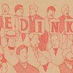 赤ペン同盟(シャーロックホームズ「赤毛組合」より)横260×縦150