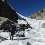 Gletscher überquerung zum zweiten Paß, dem Cho La
