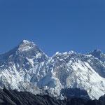 wunderbahre Aussicht vom Renjo Pass auf Everest, Lhotse und Nuptse