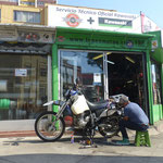Bike Service in Valparaiso, new Chain ans sprockets