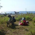 schönes Camp bei den Salzbecken