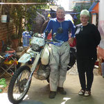 leaving Vila Kunterbunt, here with Martina
