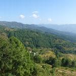 Nepal, Landschaft im Süden von Pokhara