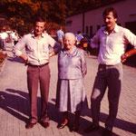 Horst, Maria und Peter Kessler von links