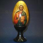 5G - Uovo russo in legno dipinto a mano