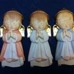 39A -  Angeli in legno scolpiti scolpiti a mano da appendere con personalizzazione del nome