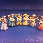 16A - angeli con strumenti - scultura in legno dipinta a mano