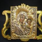 6G - Icona dipinta a mano in argento placcato oro in varie misure e diversi soggetti