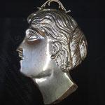 6 c - Testa di donna del 1700 in argento disponibili anche occhi