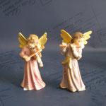 15A - Angeli con strumenti - scultura in legno dipinta a mano