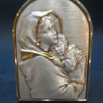 28q - Quadro da appendere o da appoggiare in argento bicolore