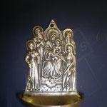 10B - Acquasantiera in argento - Madonna con Bambino e Santi