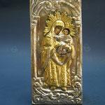 16G - Icona in argento placcato oro dipinta a mano