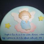 5D - Preghiera Angelo di Dio  - legno dipinto a mano