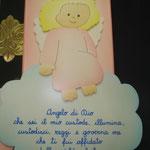 4DParticolare di Angelo di Dio rosa - legno dipinto a mano