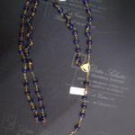 5N - Rosario in argento o in oro con lapislazzuli