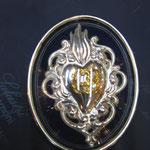 4 c - Cuore in metallo con cornice varie misure