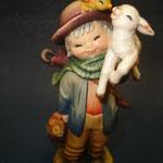 """7P - Tenero Pastorello - """"ANRI FERRANDIZI"""" scultura in legno dipinta a mano."""